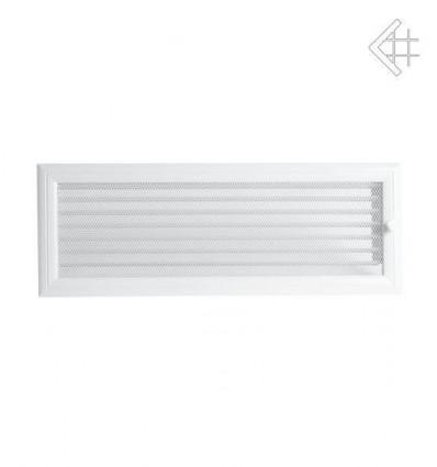Вентиляционная решетка для камина Kratki 17х49 Оскар белая с жалюзи 49OBX