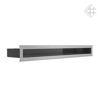 Вентиляционная решетка для камина Kratki Люфт стальная 6x60 LUFT/6/60/SZ