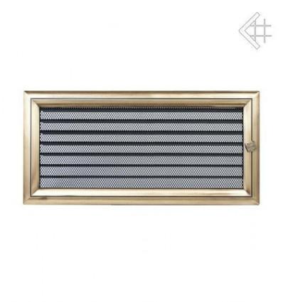 Вентиляционная решетка для камина Kratki 17х37 Оскар латунь с жалюзи 37OX