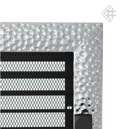 Вентиляционная решетка для камина Kratki 17x37 Venus никелированная с жалюзи 37VNX
