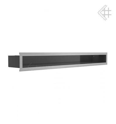 Вентиляционная решетка для камина Kratki Люфт стальная 9x80 LUFT/9/80/45S/SZ